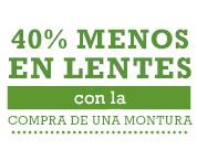 oferta de pearle vision - 40% de descuento en lentes con la compra de la montura